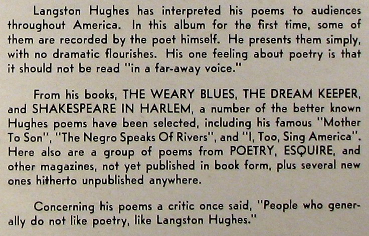 an analysis of the poem mother to son by langston hughes Background: langston hughes is an african american poet who is also well  known for his work in fiction, plays, essays and biographies this poem was  written.